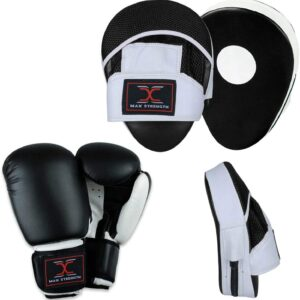 Boxing Gloves and Focus Pads Set Hook & Jab Target Mitts