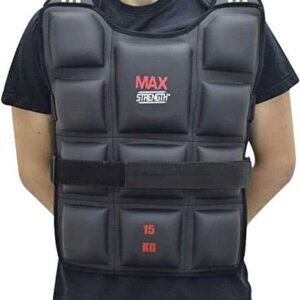 MAXSTRENGTH Weighted Vest Jacket Weight-Running-Training-Weight Loss Jacket-Workout-Exercise Weighted Vest Gym Fitness Training Workout