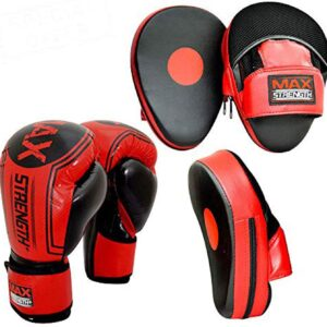 10oz Boxing Gloves and Focus Pads Set Hook & Jab Target Mitts with Punching Gloves