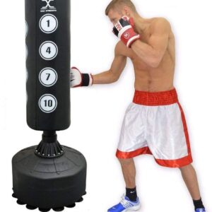 MAXSTRENGTH 6 & 5.5FT Free Standing Heavy Duty Punch Bag Punching Stand Sets Kick Boxing Targeted Stand Set MMA Punching for Training Punching