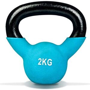 Max Strength 2kg Coated KettleBell prfessional Kettle Bell Weights for Women Men - Solid Cast Iron Weights1
