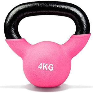 Max Strength 4kg Coated KettleBell prfessional Kettle Bell Weights for Women Men - Solid Cast Iron Weights