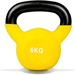 Max Strength 6kg Coated KettleBell prfessional Kettle Bell Weights for Women Men - Solid Cast Iron Weights
