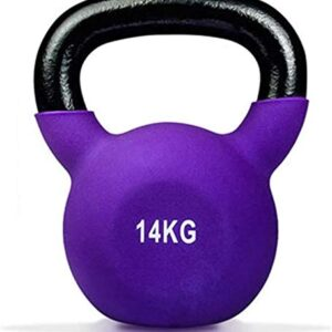 Max Strength14kg Coated KettleBell prfessional Kettle Bell Weights for Women Men - Solid Cast Iron Weights